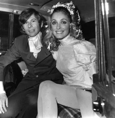 Sharon Tate and Roman Polanski on their wedding day in 1968. Manson and his followers murdered Tate and eight others in 1969.